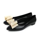 HUMAN PEACE 黑色 晴雨鞋-尖頭平底 女鞋 MELSA03-09 no421