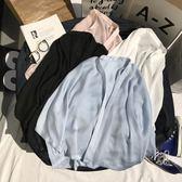 店長推薦牛奶絲防曬衣女雪紡韓版夏季短款外搭開衫薄款外套百搭上衣小披肩