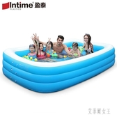 充氣游泳池 加厚家用小孩家庭洗澡池 嬰兒寶寶成人戲水池 zh3987【艾菲爾女王】