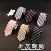 領帶男士正裝商務 上班面試優質領帶淺灰色黑色條紋格子領帶男女配飾 小艾時尚