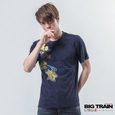 BIG TRAIN 墨達人流水金魚T-男-丈青