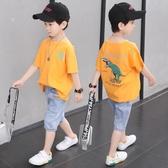 童裝男童夏裝套裝2020新款兒童洋氣男孩衣服夏天短袖帥氣兩件套潮