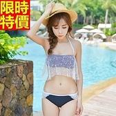 比基尼-音樂祭韓版性感神秘蕾絲 兩件式泳衣-67h49【時尚巴黎】