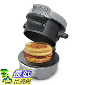 [美國直購] Hamilton Beach 25475 Breakfast Sandwich Maker, Gray DIY早餐 漢堡機 三明治機