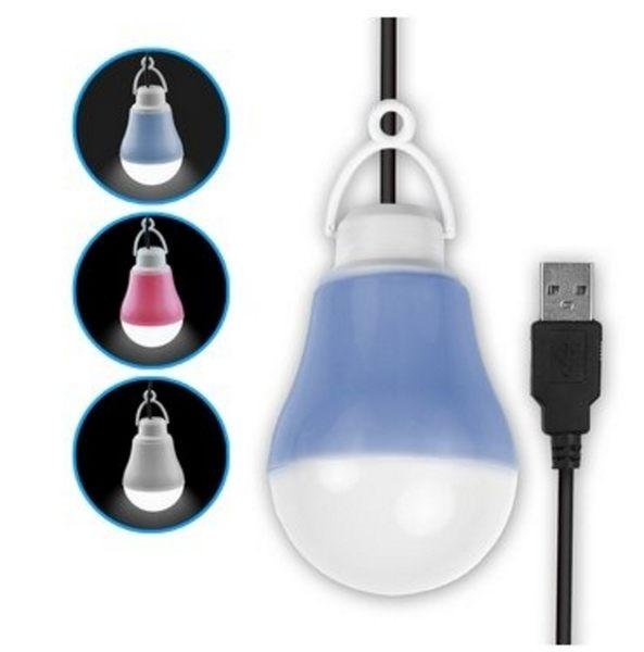 新竹【超人3C】AIBO 隨身照明 USB LED 帶線聚光燈泡(白光) 小夜燈 露營燈 藍色/粉紅/白色