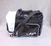 「野球魂中壢店」--「HATAKEYAMA」個人裝備袋(側袋型,黑×白色)