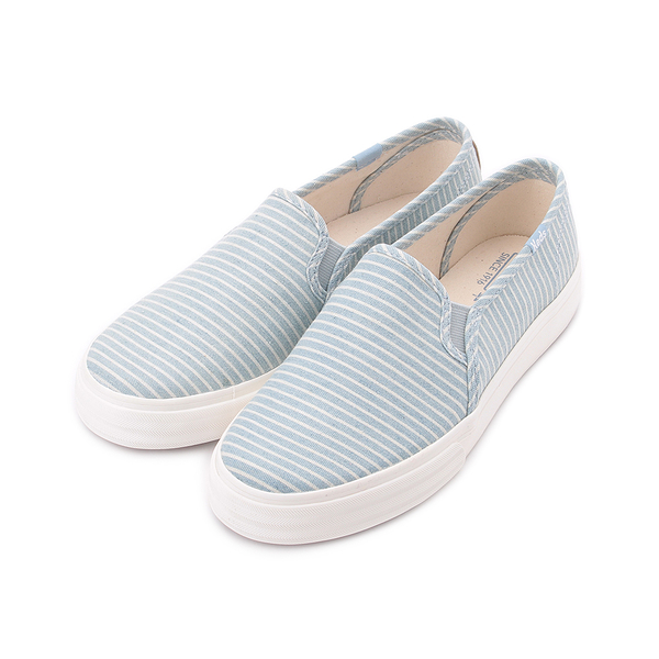 KEDS DOUBLE DECKER 海洋風條紋休閒便鞋 淺藍/條紋 9192W122737 女鞋
