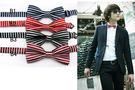 來福,條紋式型男四色小領結可搭配襯衫T恤兒童也可用,直購價69元,現+預7-10