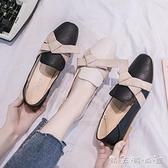 小皮鞋女英倫配裙子仙女風蝴蝶結單鞋女平底春季新款淑女鞋子