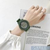 手錶超火電子手錶女獨角獸韓版中學生簡約氣質復古防水運動原宿風 快速出貨