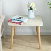 茶几日式小茶几邊几現代簡約床頭沙發邊桌歐式迷你客廳木質方桌子角几WY