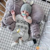 新生嬰兒的兒短袖連體衣寶寶夏裝男哈衣純棉薄款女夏季衣服滿月潮 雅楓居