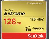 SanDisk Extreme CF-128GB 120MB/s 800X 適合 Full HD 動態錄影 128G 【台灣代理商公司貨】