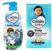 【Cussons 佳霜】兒童沐浴乳-荷荷巴油+蘆薈*3+嬰兒潤膚香*12