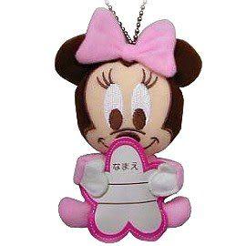 【波克貓哈日網】迪士尼吊飾 /名牌◇BABY米妮圖案◇《可愛立體設計》