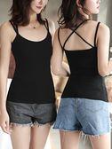 吊帶背心女夏季性感外穿短款打底上衣小吊帶衫