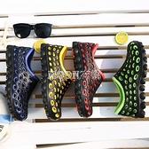 新款夏季洞洞鞋男士防滑沙灘鞋透氣學生包頭涼拖鞋休閒厚底懶人鞋 快速出貨