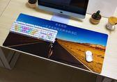 超大文字辦公滑鼠墊游戲專用電腦桌家用防滑辦公桌墊   琉璃美衣