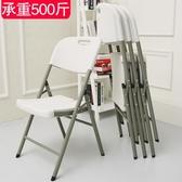 折疊椅家用餐椅休閒椅便攜塑料椅會議培訓辦公電腦椅凳子靠背椅子  【快速出貨】YYJ