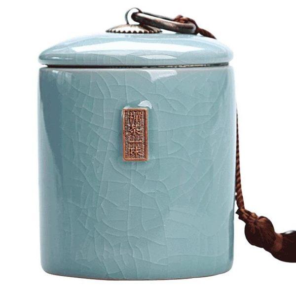 密封茶葉罐陶瓷茶盒茶倉旅行儲物罐普洱罐存茶罐特價茶具享購