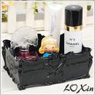 蝴蝶薔薇典雅雕花首飾盒 珠寶化妝品保養品收納盒【SK1333】Loxin