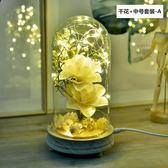 北歐簡約玻璃罩愛心台燈火樹銀花燈創意浪漫聖誕生日禮物臥室夜燈 樂活生活館