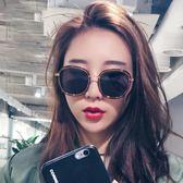 新款墨鏡女韓版潮偏光太陽鏡圓臉網紅眼鏡復古街拍 芥末原創