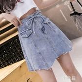 牛仔半身裙 女a型夏季2020新款高腰顯瘦設計感包臀短裙女裙子ins潮 JX977『優童屋』