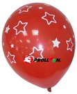【大倫氣球】12吋-五面印刷 圓形氣球 大小星星 單顆 婚禮佈置 求婚 新婚 派對
