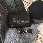日韓新款chic復古蛇骨鍊條小方包單肩斜跨小包包時尚休閒手拿包女  瑪奇哈朵