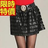 皮裙-獨特簡單甜美蓬蓬裙顯瘦性感女短裙63ah48[巴黎精品]