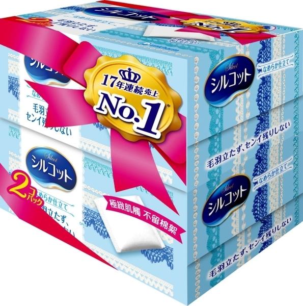 絲花化妝棉(80+2片) x 2盒組