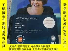 二手書博民逛書店ACCA罕見F6 Taxation(UK) FA 2016:AC