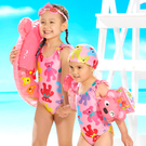 WHY AND 1/2 普普熊連身泳衣-附泳帽 5Y~10Y