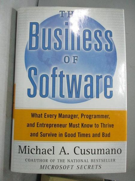 【書寶二手書T1/財經企管_ZFN】The Business of Software-What Every..._Michael