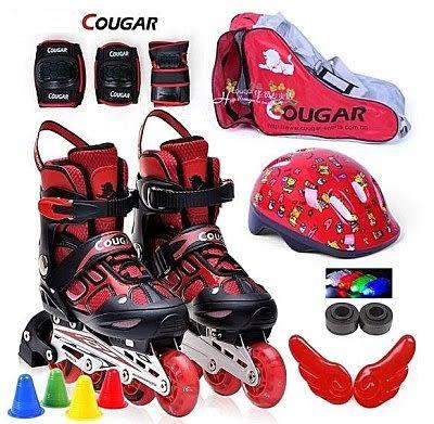 美洲獅兒童輪滑鞋  成人直排輪滑鞋【藍星居家】