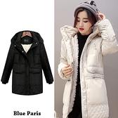 【藍色巴黎】 連帽內鋪保暖羊羔毛羽絨外套 大衣 風衣外套【29032】 《2色:M~2XL》