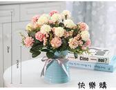 好康618 花卉盆栽含花瓶假花裝飾絹花客廳餐桌擺件