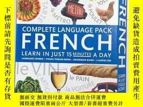 二手書博民逛書店Complete罕見Language Pack French: Learn in Just 15 Minutes
