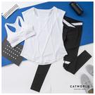 Catworld 輕盈生活。BRA背心加上衣長褲運動套裝三件組【16600503】‧S-XL