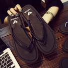 限定款夾腳涼鞋 女夏時尚防滑外穿平底夾腳拖鞋 海邊度假海灘鞋