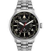 【滿額禮電影票】CITIZEN 星辰 光動能萬年曆手錶-黑x銀/44mm BX1010-53E