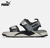 PUMA RS-Sandal 男女款灰黑色休閒涼拖鞋-NO.37486204