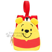 〔小禮堂〕迪士尼 小熊維尼 兒童防走失背包《S.黃紅.Q版.蜂蜜罐》可調式肩帶 4973307-39046