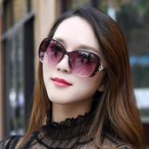 太陽鏡女士2020新款潮防紫外線變色墨鏡時尚圓臉偏光眼鏡大臉顯瘦【88折免運】