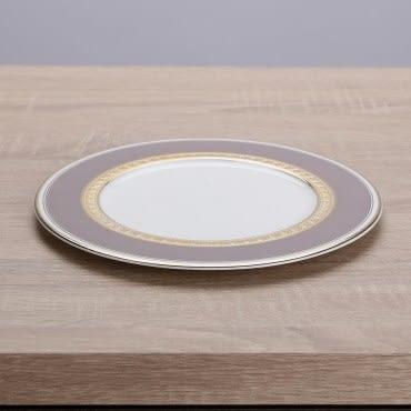 HOLA home 艾勒琴骨瓷平盤10吋 淺棕