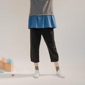 【中大尺碼】橫條腰頭公仔中褲