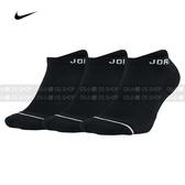 【現貨特價】NIKE AIR JORDAN 踝襪 三雙一組 SX5546-010 黑色 襪子