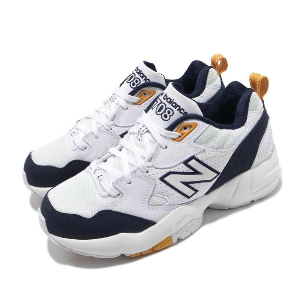 New Balance 休閒鞋 NB 708 寬楦 白 深藍 黃 女鞋 男鞋 運動鞋 老爹鞋 IU 李知恩 【ACS】 WX708WPD
