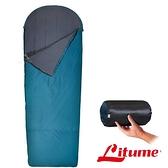 【Litume】Fenc Insulate科技棉睡袋『藻綠』C065 露營.登山.戶外.自助旅行.居家.旅遊.保暖